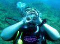 My wife Sandy - having just completed the PADI advanced OW Course!