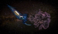 Inking Through Universe part my Underwater Surrealism series ink drop shot water animal. Image referring these pelagic squids deep dark habitats their Universe. animal). animal) Universe). Universe)