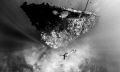 Freediving one many wrecks Coron Bay Photo taken breath hold Nikon D300 Freediver MJ Paula