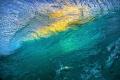 Water ceiling. Facing breaking Caribbean wave sunset. this shot used nikon d800 Aquatech Elite pro sport housing pistol grip dedicated surf photography. ceiling sunset photography