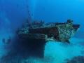Wreck Stella Maru off Trou aux Biches North West Mauritius. Ground around 26 meters 85 feets. Mauritius feets