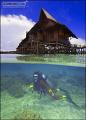 Kapalai Dive Resort Sabah Borneo Nikon D2x 12mm lens manual exposure lighting chalet diver was challenge. challenge