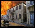 These buildings were my walk home while living Cyprus summer. added water fire because first glance things seem so sad there but after most people proved be warm caring rescue divers. summer divers