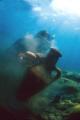 Finding ancien arab anphora wreck XI century. very rare.West side Sicily Mediterraneum sea. Natural light. Nikonos 15 mm. century rare. rare sea light mm