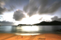 This image captured relaxation life Caribbean was beautiful sunset setting. setting