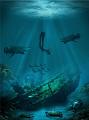 guards underwater treasure