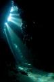 Sun rays cave