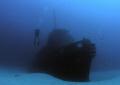 Rozi tug boat. Artificial reef off Cirkewwa north coast Malta.Olympus 5060wzInon UWL 100 lensF5.61160ISO 200 boat Malta. Malta F5.6 F56 F5 1/160 1160 160