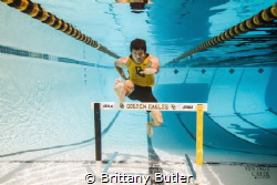 """""""Jump, Don't Breathe"""" Underwater Senior session in the d... by Brittany Butler"""