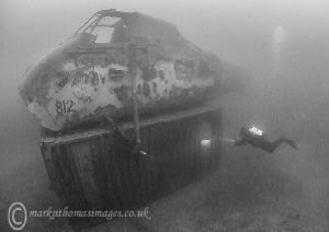 Diver & Helicopter. Capernwray by Mark Thomas