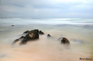 Sri Lankan seascape,  slow speed + grey filter by Raoul Caprez