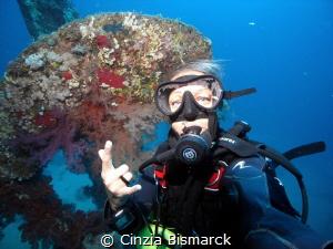 Me, my self & I! Selfie @ Propeller of Dunraven wreck by Cinzia Bismarck