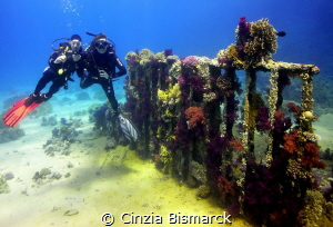 Kathrin&Stefan & the container of Yolanda Reef by Cinzia Bismarck