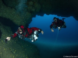 Cavern dive on Tmx Sidemount. Fun fun fun. Lanzarote by Alexia Dunand