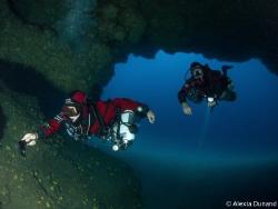 Cavern dive on Tmx Sidemount. Fun fun fun. Lanzarote by Alexia Dunand
