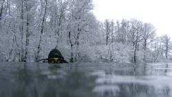 Photo of my friend. Poland, Lusowo lake. Winter 2006, -5 ... by Jakub Patynek