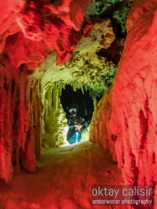 Limestone Cave Restriction Color Reflections! by Oktay Calisir