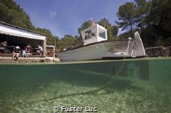 "View of the typical restaurant ""El Bigote"" en Cala Mastel... by Fuster Luc"