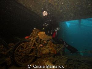 Arton on Bsa motorcycle of Thistlegorm wreck by Cinzia Bismarck