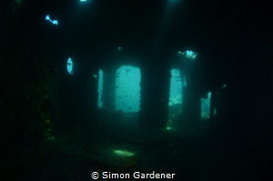 Taken inside of the bridge of the MO wreck  Nikon D7000 by Simon Gardener
