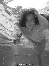ELLA-BLU. Photo taken in our pool. by David Haintz
