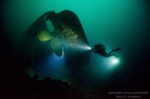 The picture is taken on 75meter. The Wreck Oldenburg is ... by Rene Andersne