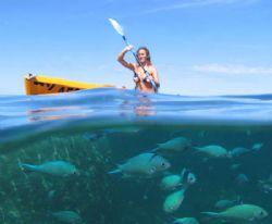 Kayaking on Ningaloo Reef. by Penny Murphy