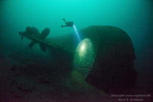The picture is taken on 75meter.   The Wreck Oldenburg i... by Rene B. Andersen