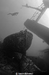 wreck in Red Sea by Nezih Ekmekci