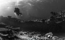Mystic landscape of Abu Nuhas reef - Egypt, many wrecks a... by Ivan Vychodil