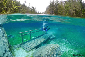Diving on a bridge by Raoul Caprez
