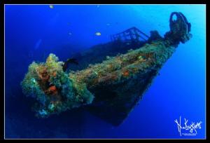 Wreck at 40 mts. by Natasha Maksymenko