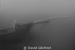'Ghost Ship' Image of the Barque 'Arabia', Fathom Five Na... by David Gilchrist