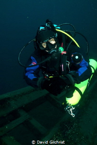 Great Lakes Wreck Diver-Diver on the wreck of the Barque ... by David Gilchrist