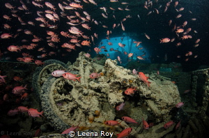 Motorbikes on the Thistlegorm wreck by Leena Roy