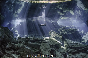 Cenote diving in Chac Mool by Cyril Buchet