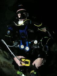 Tech Diver, camera olympus c-5050, ikelite housing, ds-12... by Ray Eccleston