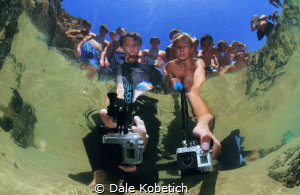this is what the tide pool creatures see when you stick a... by Dale Kobetich