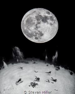 Night diving on the Full Moon by Steven Miller