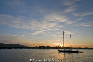 Sunrise from the divingboat by Cipriano (ripli) Gonzalez