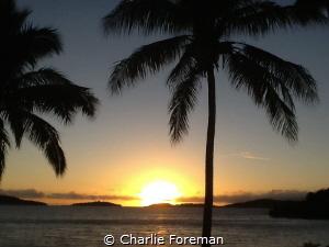 Sunset at Wannanavu Resort in Fiji, June 2014 by Charlie Foreman