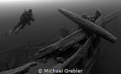 """Starboard bow and anchor of the barque """"Arabia"""" lost near... by Michael Grebler"""