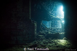 Ray of light entering the shower block on the Gosei Maru ... by Neil Tinmouth