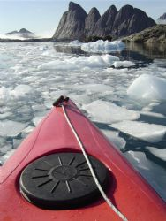 Pushing ice in Scoresby Sound, Greenland by Ryan Stafford