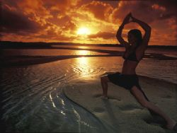 Yoga shot taken in Sodwana Bay South Africa with grad pin... by Fiona Ayerst