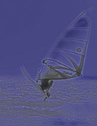 Too windy to get the dinghy out, but great for a windsurf... by Penny Murphy