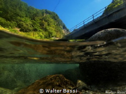The bridge over the river (Lombardia,Italy)  by Walter Bassi