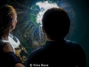 Gaze - Back-selfie. Ik Kil Cenote, Yucatan Peninsula by Nina Baxa
