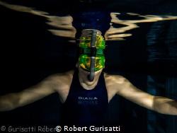 Fin swimming by Robert Gurisatti