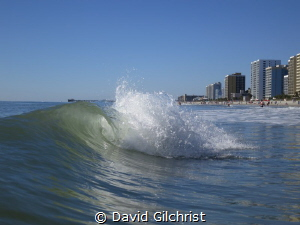 Wave along the Grand Strand, Myrtle Beach, South Carolina by David Gilchrist